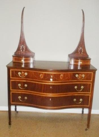 refurbished antique dresser