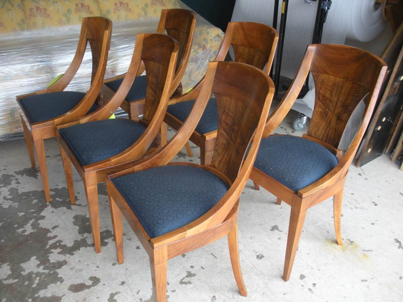 Empire dining chairs, refinished