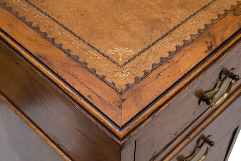 wooden detail in an antique desk
