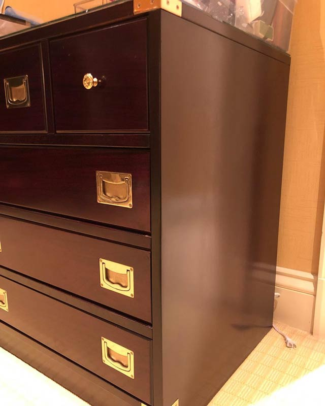 dresser repaired by Georgetown Refinishing & Antique Restoration
