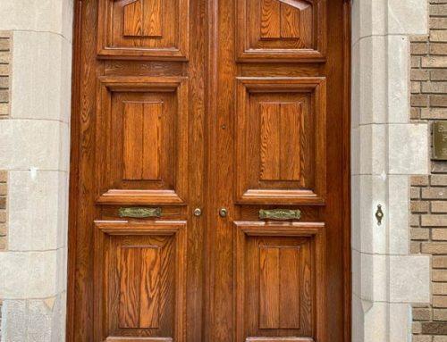 Embassy of Portugal Oak Exterior Door Refinishing