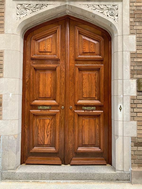 restored exterior door