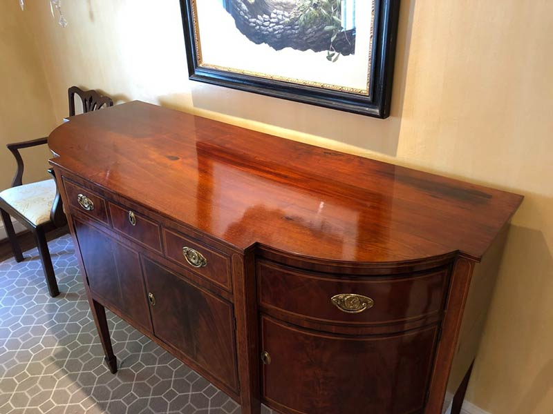 antique buffet restored by Georgetown Refinishing & Antique Restoration